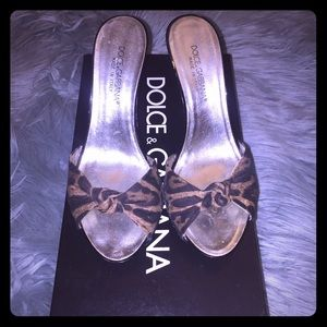Dolce & Gabbana Leopard Heels Slide 💯% Authentic